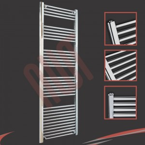 600mm  x 1800mm Straight Chrome Towel Rail