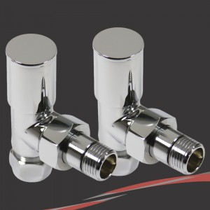 Angled Chrome Valves for Radiators & Towel Rails (Pair)