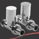 Straight Chrome Valves for Radiators & Towel Rails (Pair)