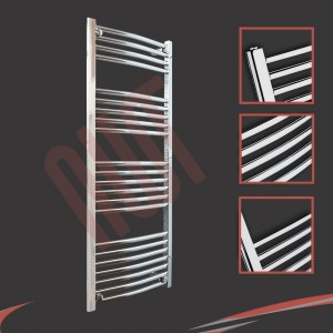 "500mm (w) x 1200mm (h) ""Curved Chrome"" Towel Rail"
