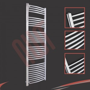 "500mm (w) x 1600mm (h) ""Curved Chrome"" Towel Rail"