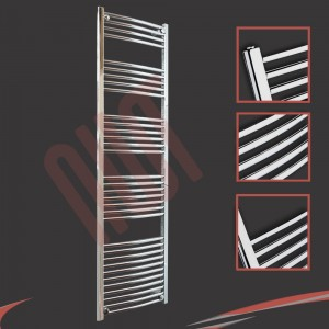 500mm x 1800mm Curved Chrome Towel Rail