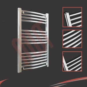 "600mm (w) x 800mm (h) ""Curved Chrome"" Towel Rail"