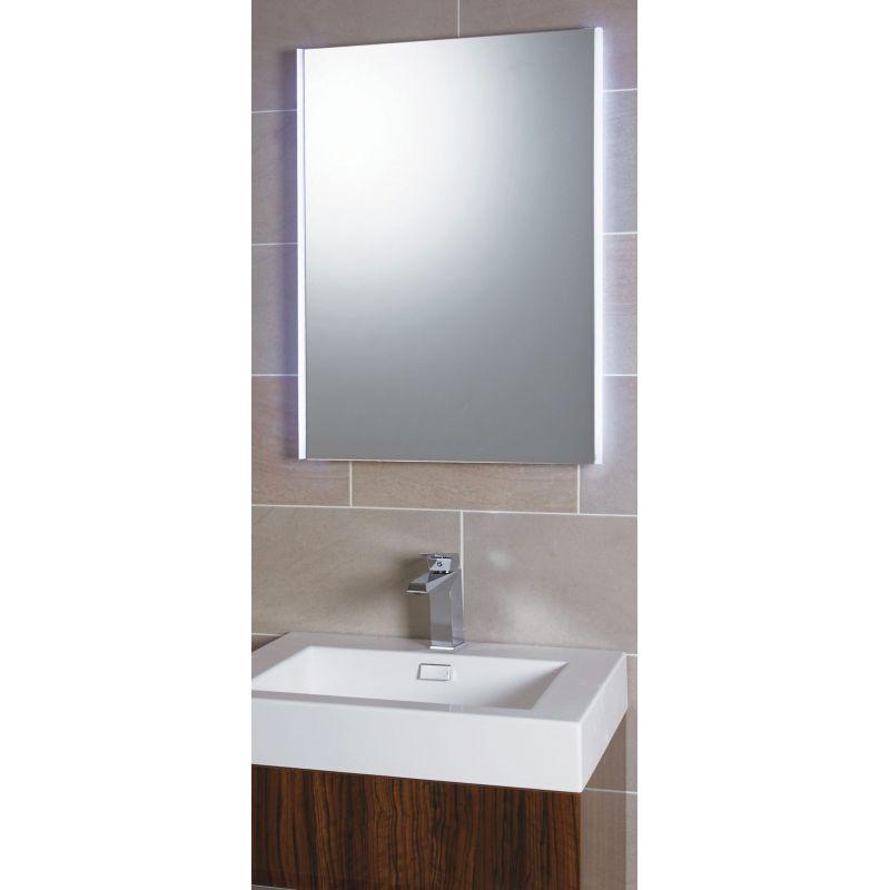 Designer side lit led bathroom mirror infrared sensor for Bathroom side mirror