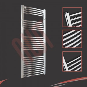"600mm (w) x 1400mm (h) ""Curved Chrome"" Towel Rail"