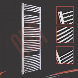 600mm x 1600mm Curved Chrome Towel Rail