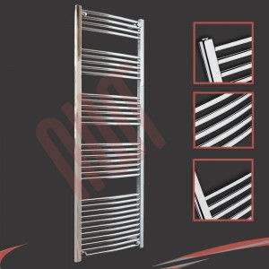 600mm  x 1800mm Curved Chrome Towel Rail