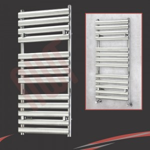 "500mm (w) x 1200mm (h) ""Brecon"" Chrome Designer Towel Rail"