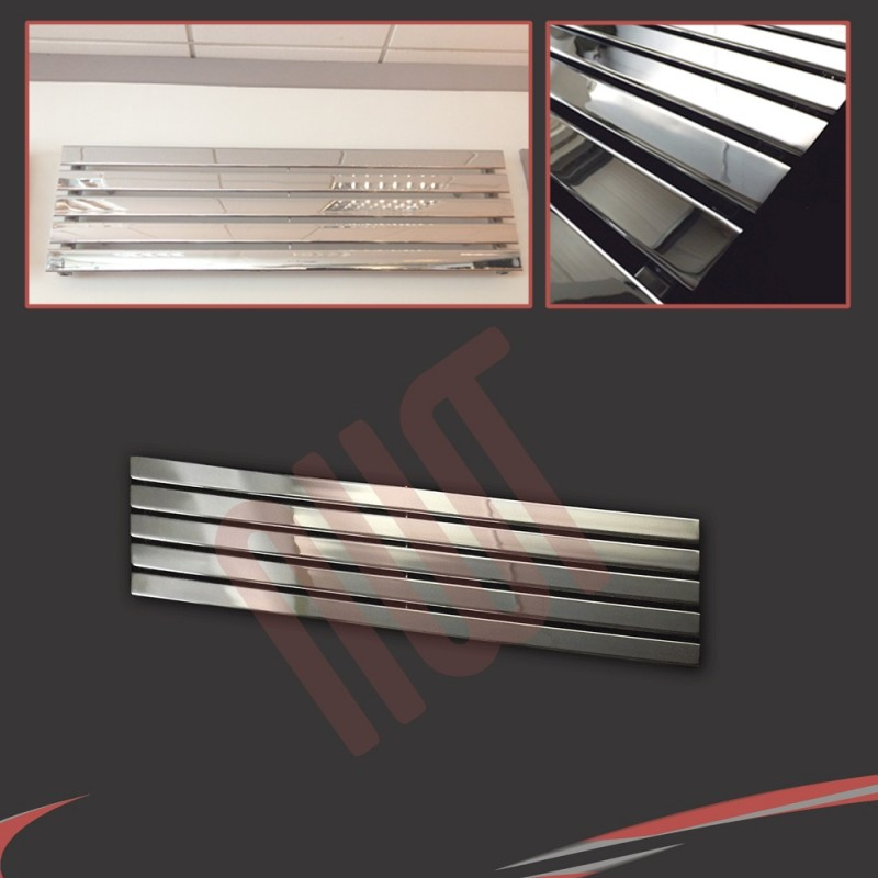 1250mm (w) x 360mm (h) Corwen Chrome Horizontal Radiator