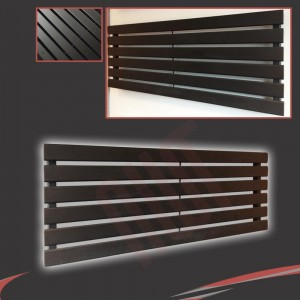 "1250mm (w) x 440mm (h) ""Corwen"" Black Flat Panel Horizontal Radiator (6 Sections)"