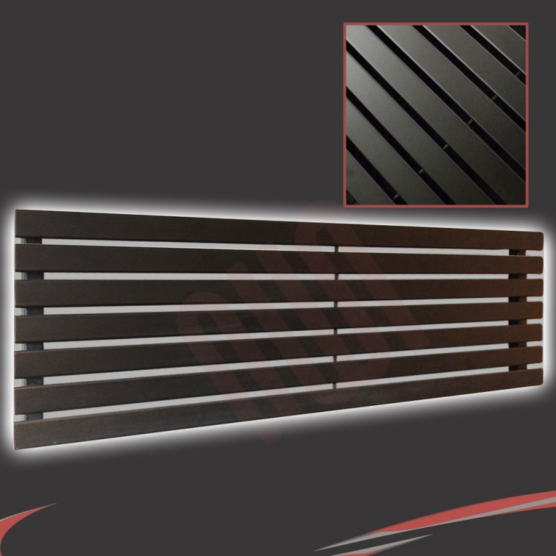 1850mm (w) x 516mm (h) Corwen Black Horizontal Radiator