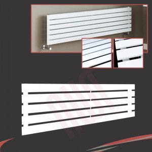 1250mm (w) x 360mm (h) Corwen White Horizontal Radiator