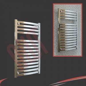 500mm x 800mm Ellipse Chrome Towel Rail