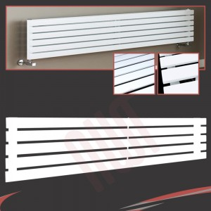 1850mm (w) x 360mm (h) Corwen White Horizontal Radiator