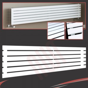 1850mm (w) x 440mm (h) Corwen White Horizontal Radiator