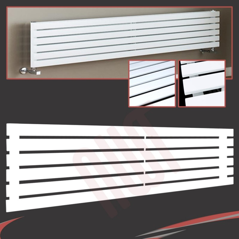 1850mm (w) x 440mm (h) Corwen White Horizontal Radiator