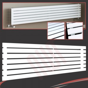 1850mm (w) x 516mm (h) Corwen White Horizontal Radiator