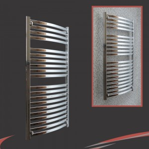 500mm x 1100mm Ellipse Chrome Towel Rail