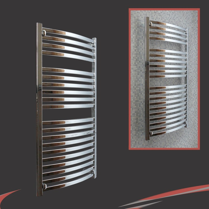 500mm x 1100mm Ellipse Chrome Towel Rail
