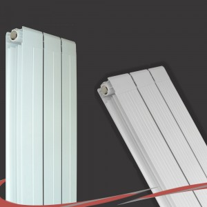 405mm (w) x 1800mm (h) Vesuvius White Radiator (Aluminium)