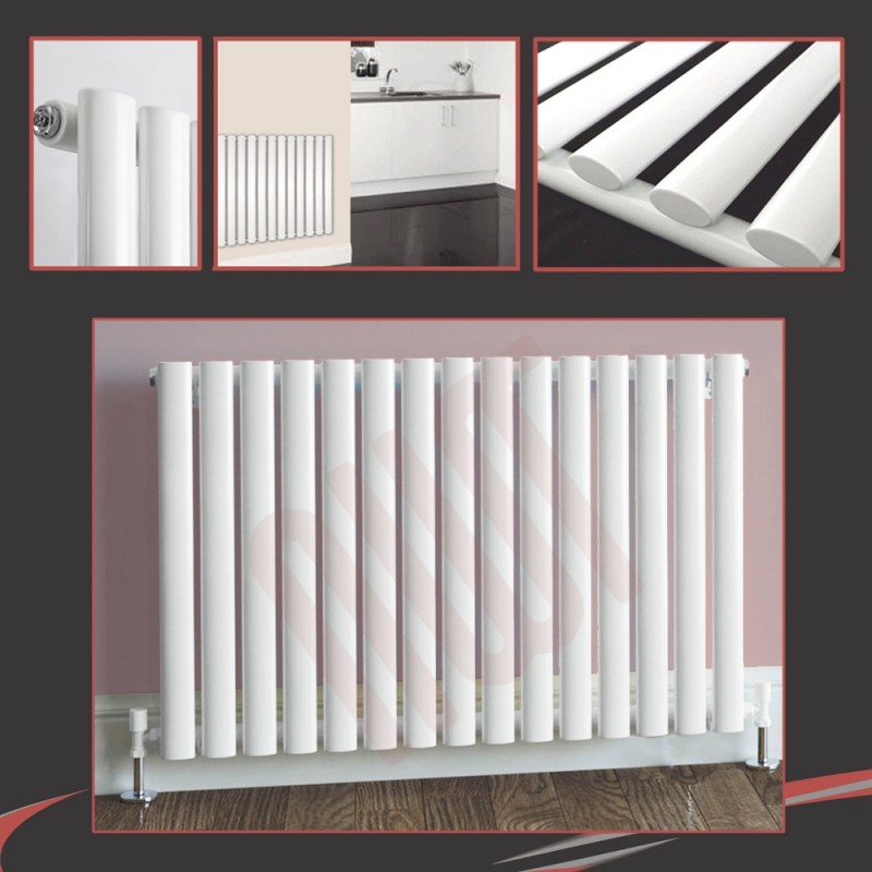 960mm (w) x 500mm (h) Brecon White Horizontal Radiator
