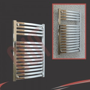 "600mm (w) x 800mm (h) ""Ellipse""Chrome Designer Towel Rail"