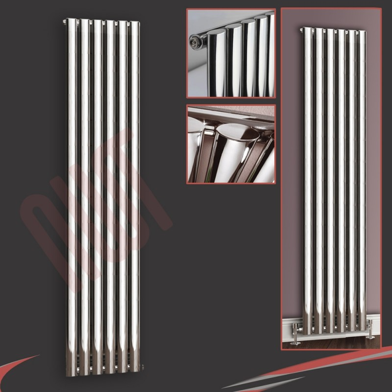 420mm (w) x 1800mm (h) Brecon Chrome Vertical Radiator