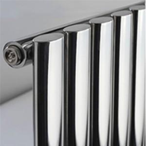 420mm (w) x 1800mm (h) Brecon Chrome Vertical Radiator