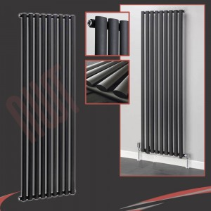 630mm (w) x 1800mm (h) Brecon Black Vertical Radiator
