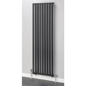 630mm (w) x 1800mm (h) Brecon Black Vertical Radiator