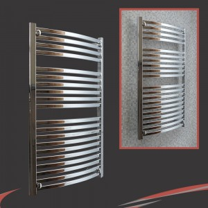 600mm x 1100mm Ellipse Chrome Towel Rail