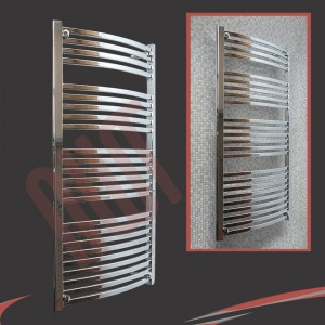600mm x 1400mm Ellipse Chrome Towel Rail