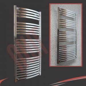 600mm x 1400mm Ellipse Chrome Towel Rail