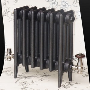 """The """"Gladstone"""" 4 Column 460mm (H) Traditional Victorian Cast Iron Radiator - Anthracite"""