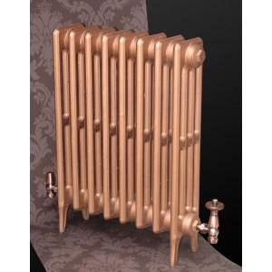 "The ""Gladstone"" 4 Column 660mm (H) Traditional Victorian Cast Iron Radiator - Copper"