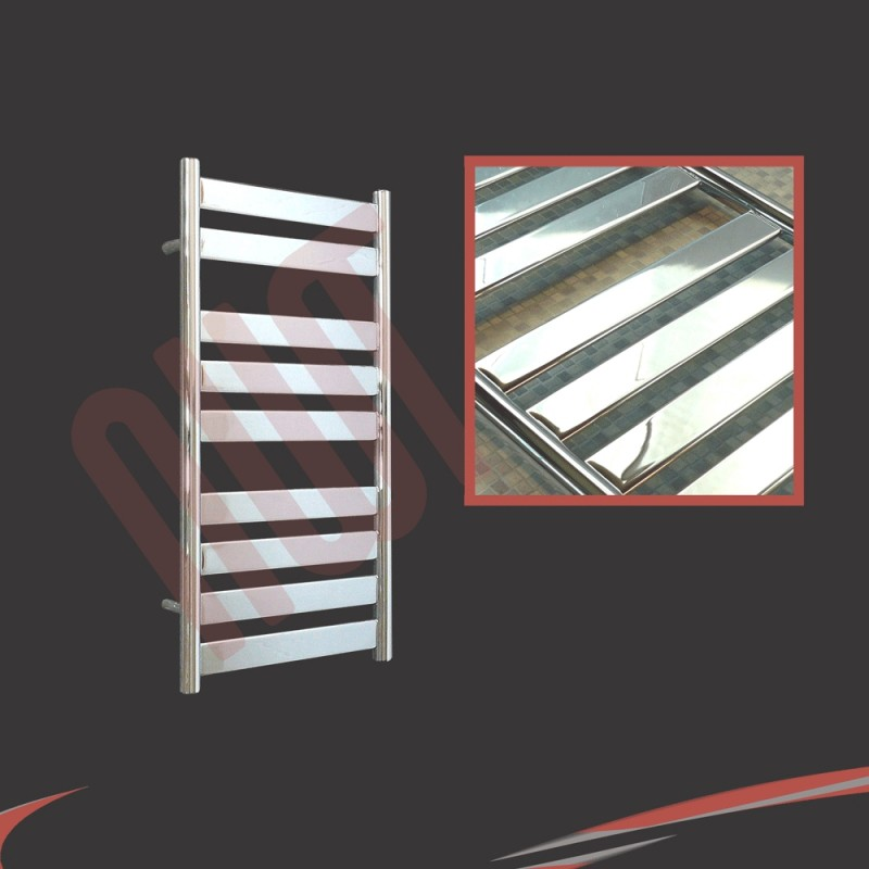 500mm x 950mm Ruthin Chrome Towel Rail
