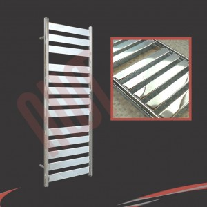 500mm x 1300mm Ruthin Chrome Towel Rail