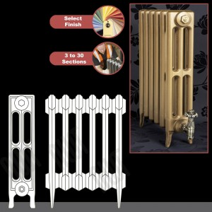 "The ""Gladstone"" 3 Column 645mm (H) Traditional Victorian Cast Iron Radiator (3 to 30 Sections Wide)"