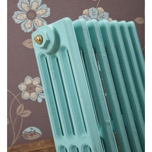 "The ""Gladstone"" 4 Column 660mm (H) Traditional Victorian Cast Iron Radiator - Blue Ground"