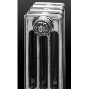 """The """"Gladstone"""" 4 Column 660mm (H) Traditional Victorian Cast Iron Radiator - Polished"""