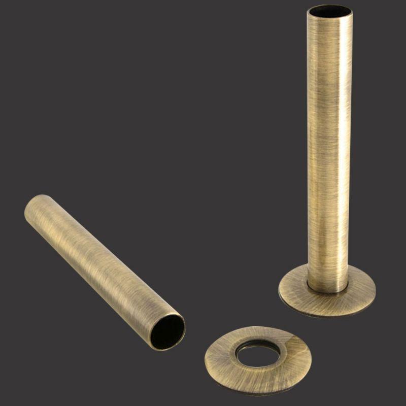 Chrome pipe collars for radiators towel rails pair