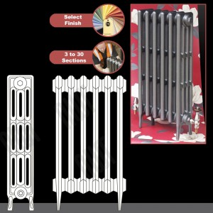 "The ""Gladstone"" 4 Column 760mm (H) Traditional Victorian Cast Iron Radiator (3 to 30 Sections Wide)"