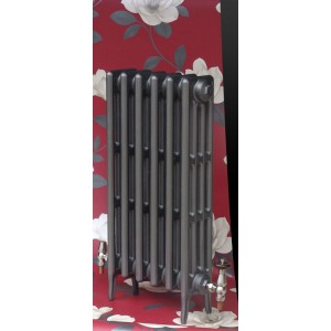 """The """"Gladstone"""" 4 Column 760mm (H) Traditional Victorian Cast Iron Radiator - Natural Cast"""