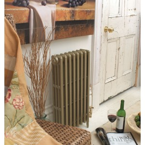 """The """"Gladstone"""" 4 Column 813mm (H) Traditional Victorian Cast Iron Radiator - Antique Gold"""