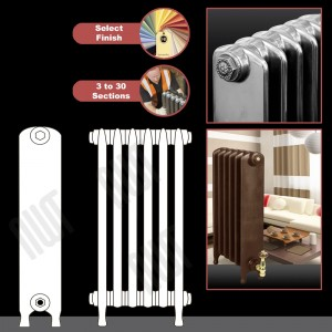 "The ""Embassy"" 2 Column 740mm (H) Traditional Victorian Cast Iron Radiator (3 to 30 Sections Wide) - Choose your Finish"