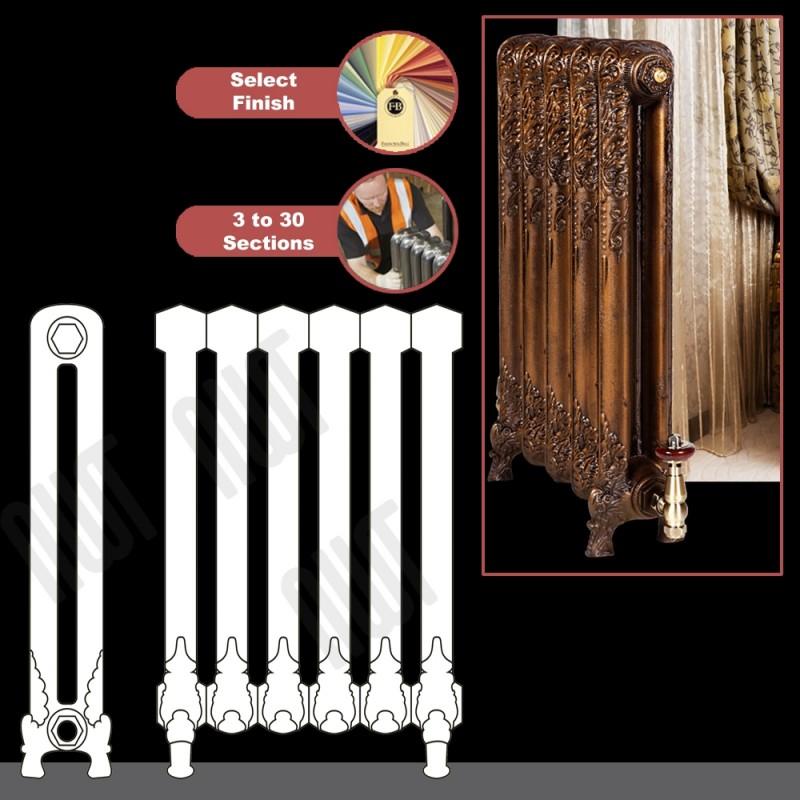 "The ""Regal"" 2 Column 740mm (H) Traditional Victorian Cast Iron Radiator -"