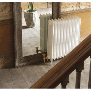 """The """"Gladstone"""" 4 Column 813mm (H) Traditional Victorian Cast Iron Radiator - All White"""