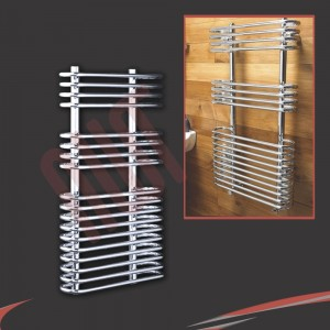 "500mm (w) x 900mm (h) ""Neath"" Chrome Designer Towel Rail"