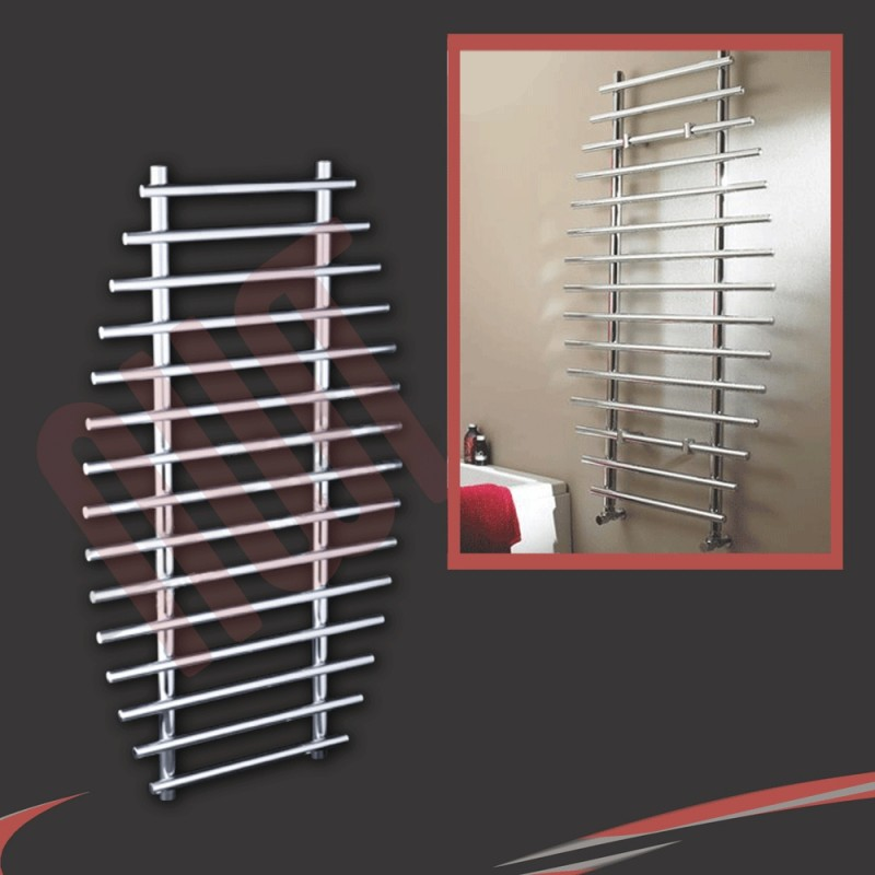 700mm x 1200mm Barmouth Chrome Towel Rail
