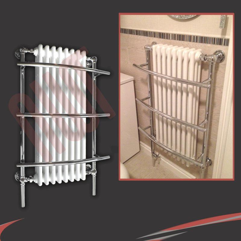 635mm W X 1000mm H Tranmere Traditional Towel Rail